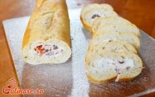 Bagheta umpluta cu crema de branza