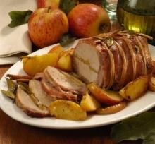 Friptura de porc cu mere