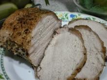 Muschiulet de porc in crusta de piper