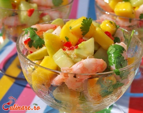 Foto - Salata de creveti cu ananas