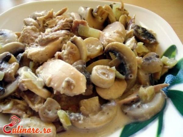 Foto - Salata de pui cu ciuperci