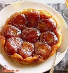 Tort de mere cu crema de zahar ars